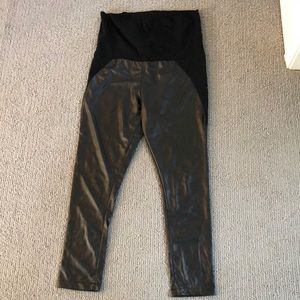 ❤️HOST PICK❤️ Maternity Leggings - Faux Leather